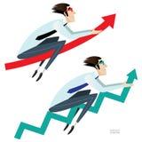 Bedrijfs geplaatste pijlen Stock Afbeelding