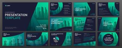 Bedrijfs geplaatste presentatiemalplaatjes Royalty-vrije Stock Afbeelding