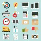 Bedrijfs geplaatste Webpictogrammen stock illustratie