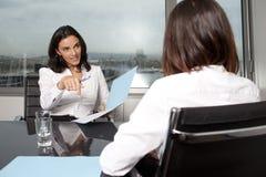 Bedrijfs gesprek Stock Afbeeldingen