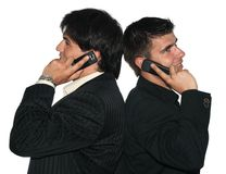 Bedrijfs gesprek Stock Foto's