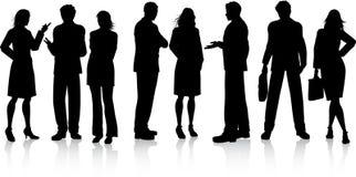 Bedrijfs gesprekken vector illustratie
