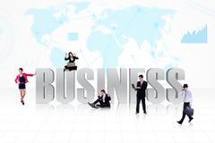 Bedrijfs globale mensen vector illustratie