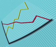 Bedrijfs grafiek 1 vervormd perspectief stock foto