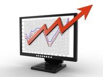 Bedrijfs grafiek Royalty-vrije Stock Fotografie