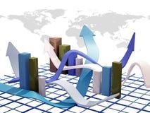 Bedrijfs grafiek Royalty-vrije Stock Foto's