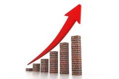 Bedrijfs grafiek Stock Illustratie
