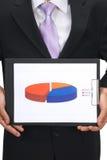 Bedrijfs grafiek Stock Foto's