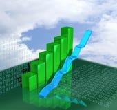 Bedrijfs grafiek die de groei toont vector illustratie