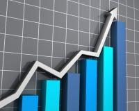 Bedrijfs grafiek die de groei toont Royalty-vrije Stock Afbeelding