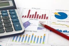 Bedrijfs grafiek die succes toont Stock Foto's