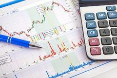 Bedrijfs grafiek die succes toont Royalty-vrije Stock Afbeelding