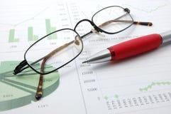 Bedrijfs grafiek die succes toont Stock Afbeelding