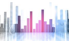 Bedrijfs Grafiek die winsten en aanwinsten toont Royalty-vrije Stock Foto
