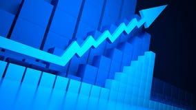 Bedrijfs grafiek en Forex indicatoren Royalty-vrije Stock Foto