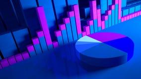 bedrijfs grafiek en Forex indicatoren stock afbeelding
