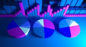 Bedrijfs grafiek en Forex indicatoren Royalty-vrije Stock Afbeelding