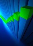 Bedrijfs grafiek en Forex indicatoren Royalty-vrije Stock Fotografie