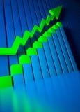 Bedrijfs grafiek en Forex indicatoren Stock Foto's