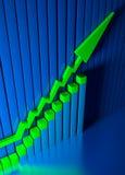 Bedrijfs grafiek en Forex indicatoren Stock Afbeeldingen