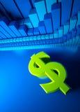 Bedrijfs grafiek en Forex indicatoren Stock Fotografie