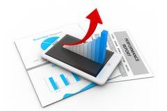 Bedrijfs grafiek en grafiek Royalty-vrije Stock Afbeelding