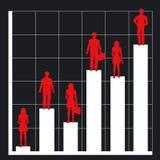 Bedrijfs grafiek en mensen stock illustratie