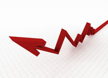 Bedrijfs grafiek met net Stock Foto's