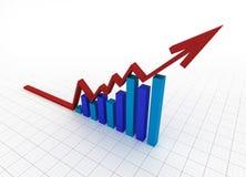 Bedrijfs grafiek met net Royalty-vrije Stock Afbeelding