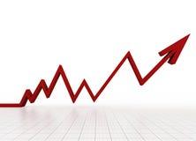 Bedrijfs grafiek met net Stock Fotografie