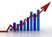 Bedrijfs grafiek met net Stock Afbeeldingen