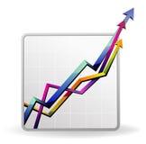 Bedrijfs grafiek met pijl Stock Foto