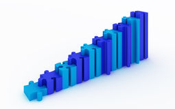 Bedrijfs grafiek met witte achtergrond Royalty-vrije Stock Afbeeldingen