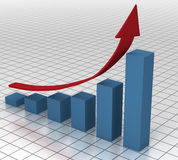 Bedrijfs Grafiek op de Stijging Stock Foto
