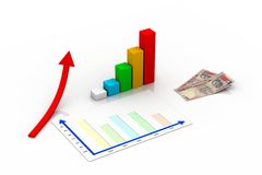 Bedrijfs grafiekconcept Stock Foto