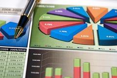 Bedrijfs Grafieken Royalty-vrije Stock Afbeeldingen
