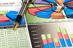 Bedrijfs Grafieken Royalty-vrije Stock Afbeelding