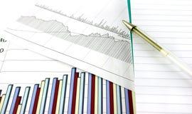 Bedrijfs Grafieken stock afbeeldingen