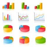 Bedrijfs grafieken Stock Foto