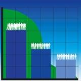 Bedrijfs grafieken royalty-vrije illustratie