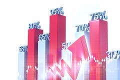 Bedrijfs grafieken en grafieken Stock Afbeeldingen