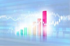 Bedrijfs grafieken en grafieken Stock Foto