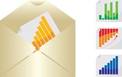 Bedrijfs grafieken en bericht Royalty-vrije Stock Afbeeldingen