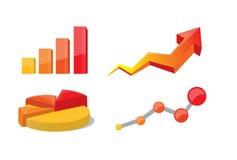 Bedrijfs grafieken en grafieken Stock Fotografie