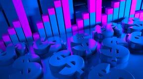 Bedrijfs grafieken en indicatoren Royalty-vrije Stock Foto's