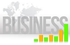 Bedrijfs grafiekkaart en achtergrondillustratie Royalty-vrije Stock Afbeeldingen