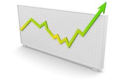 Bedrijfs grafieksucces vector illustratie