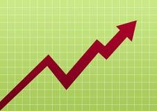 Bedrijfs groene grafiek Stock Afbeeldingen