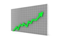 Bedrijfs groene grafiekpijl Royalty-vrije Stock Afbeeldingen
