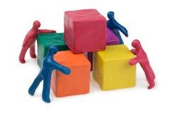 Bedrijfs groepswerk Stock Foto